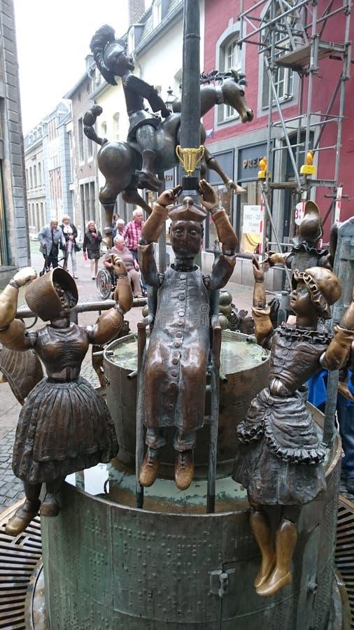 Fontanna w Aachen zdjęcie royalty free