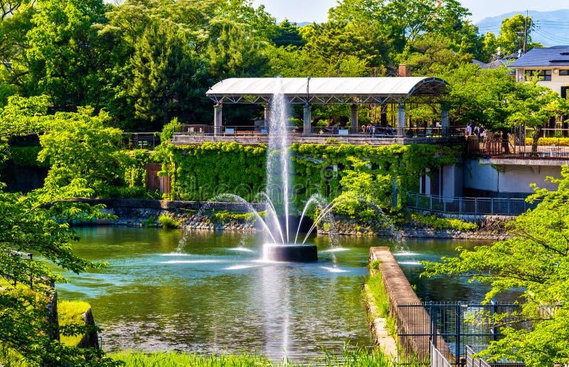 Fontanna w centrum miasta Kyoto fotografia stock