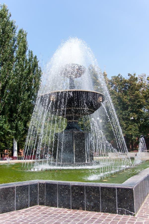 Fontanna w Kharkiv, Ukraina fotografia royalty free