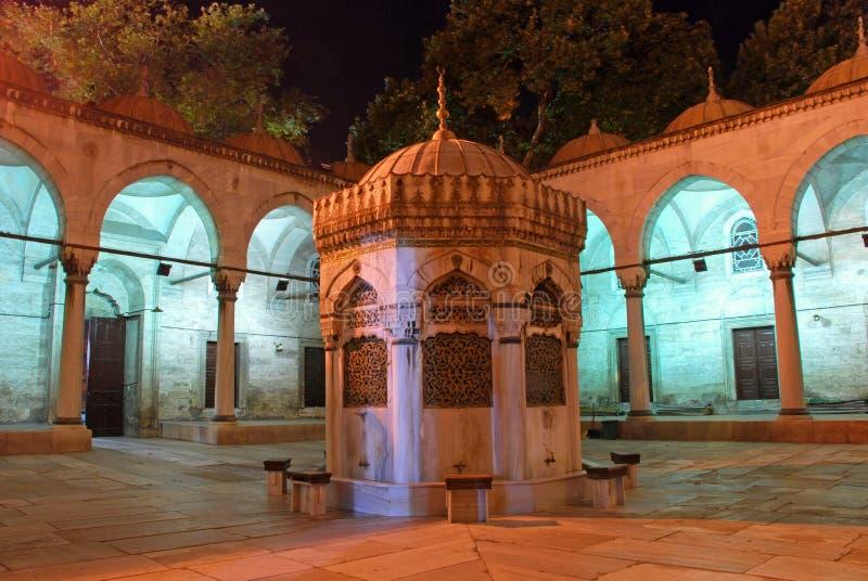 Fontanna w meczecie zdjęcie stock