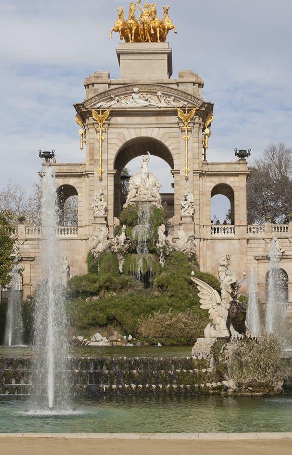 Fontanna w Parc De Los angeles Ciutadella, Barcelona fotografia royalty free