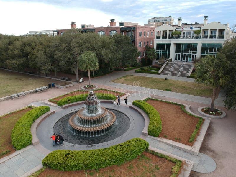 Fontanny Charleston Południowa Karolina fotografia stock