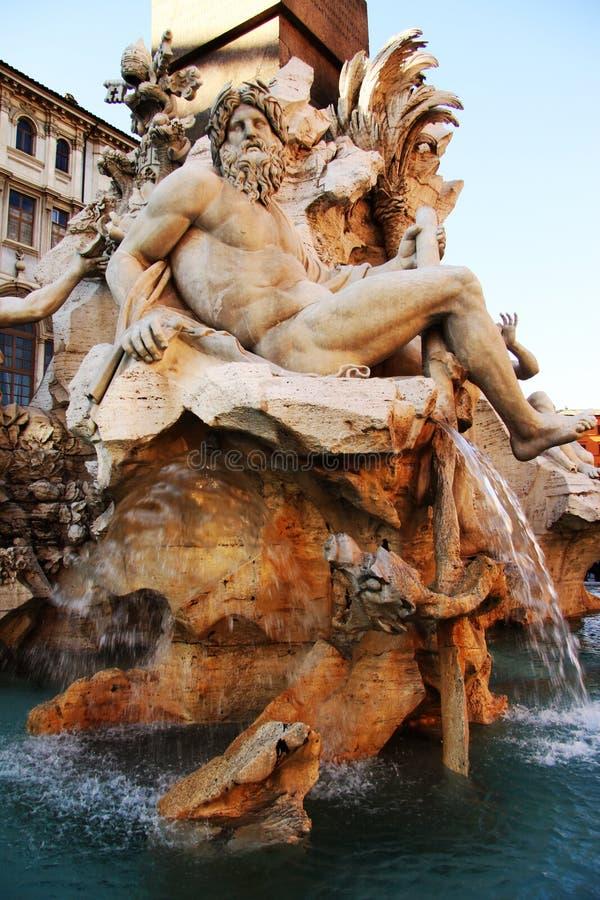 fontanny cztery Neptune rzeki obrazy royalty free