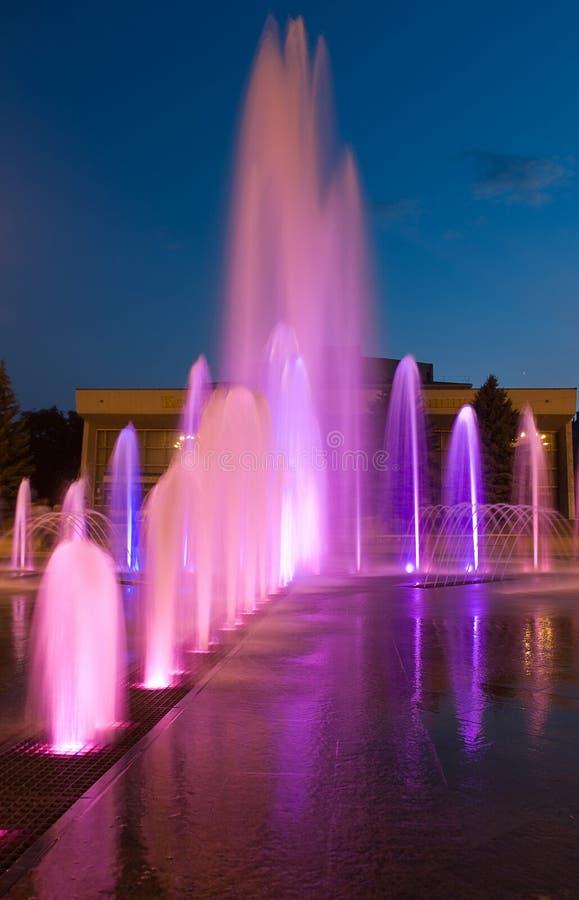 fontanny dancingowa noc zdjęcie royalty free