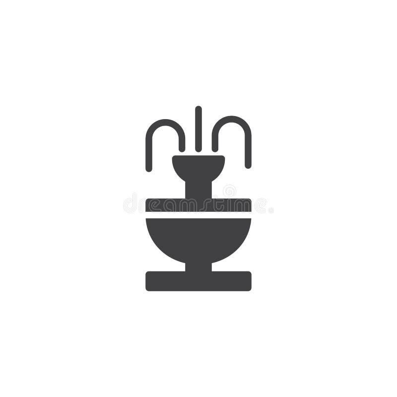 Download Fontanny ikony wektor ilustracja wektor. Ilustracja złożonej z wypełniający - 106919046