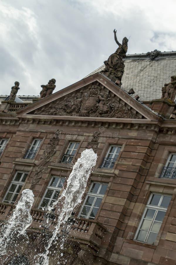 Fontanny przed Bette na miejscu Kleber, Holenderska plandeka fotografia royalty free