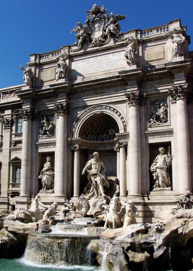 fontanny trevi obrazy royalty free