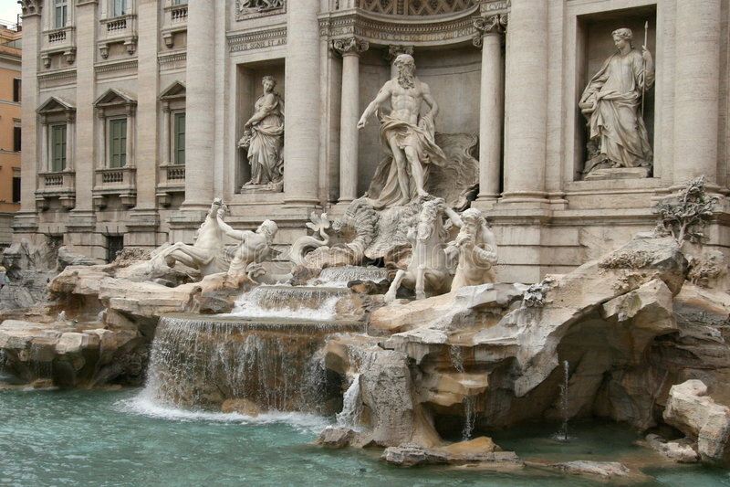 fontanny trevi obraz royalty free