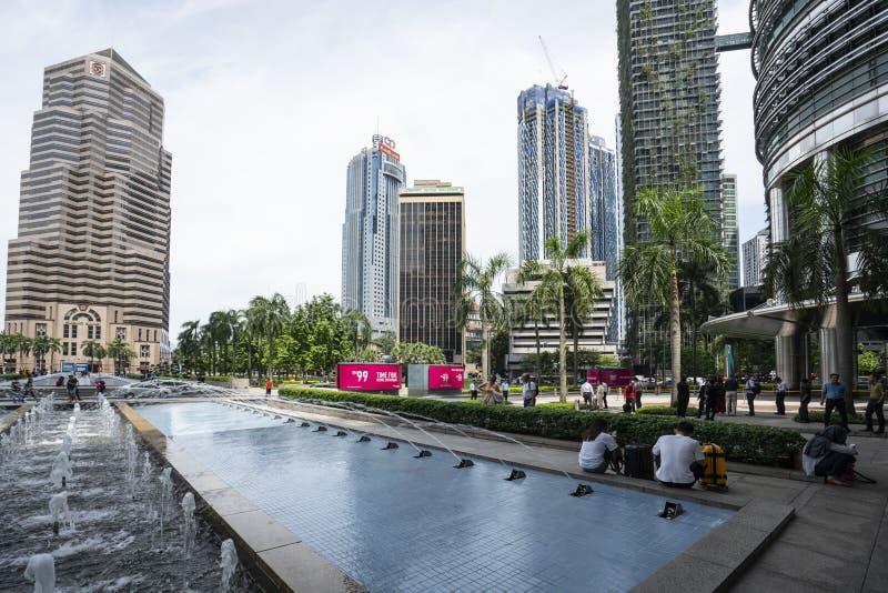 Fontanny w Kuala Lumpur zdjęcia stock