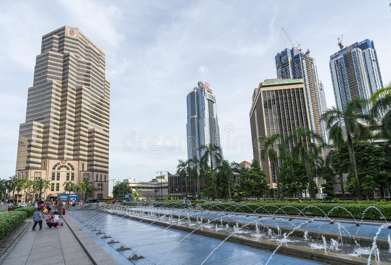 Fontanny w Kuala Lumpur obrazy stock