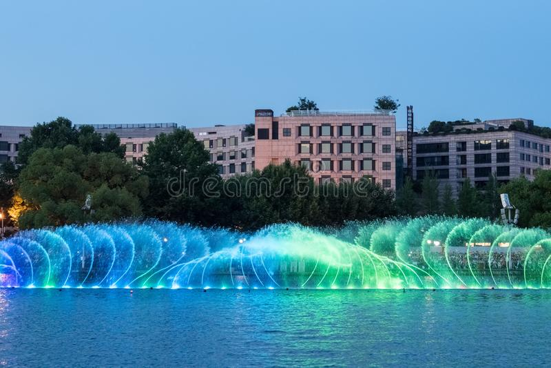 Fonte bonita no lago ocidental de hangzhou imagem de stock royalty free