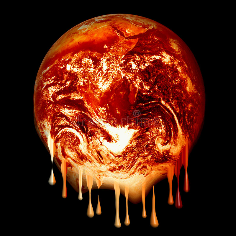 Fonte brûlante de la terre illustration de vecteur