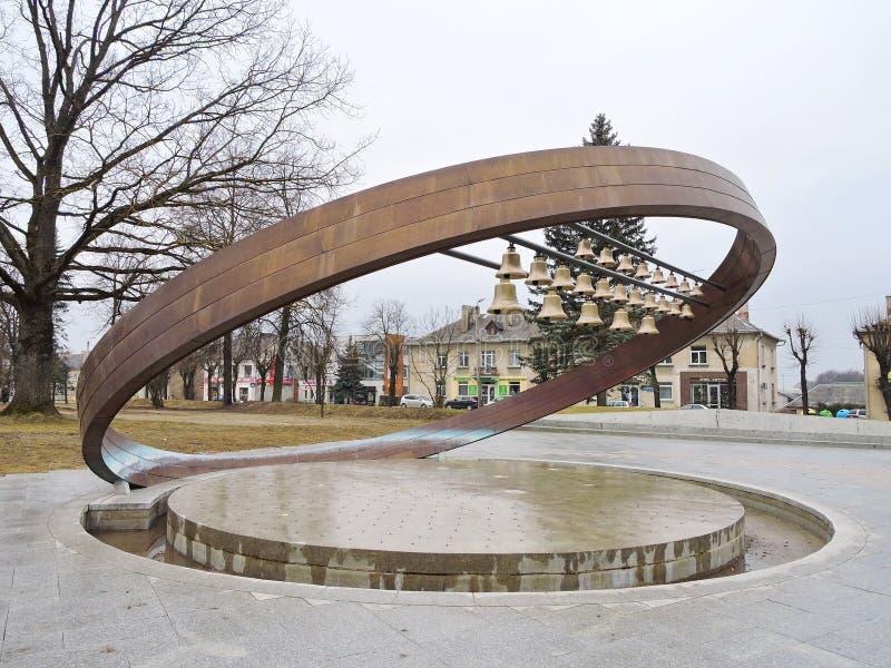 Fonte-carrilhão em Sakiai, Lituânia imagens de stock royalty free