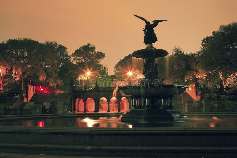 Fonte Central Park de Bethesda ny imagem de stock royalty free