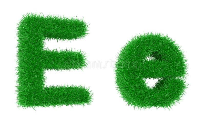 Fonte d'herbe illustration de vecteur