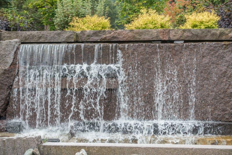 Fonte 3 da cachoeira foto de stock