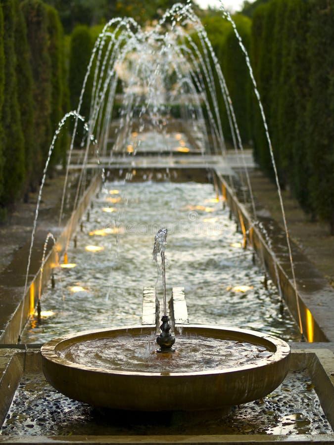 Fonte da lagoa fotos de stock royalty free