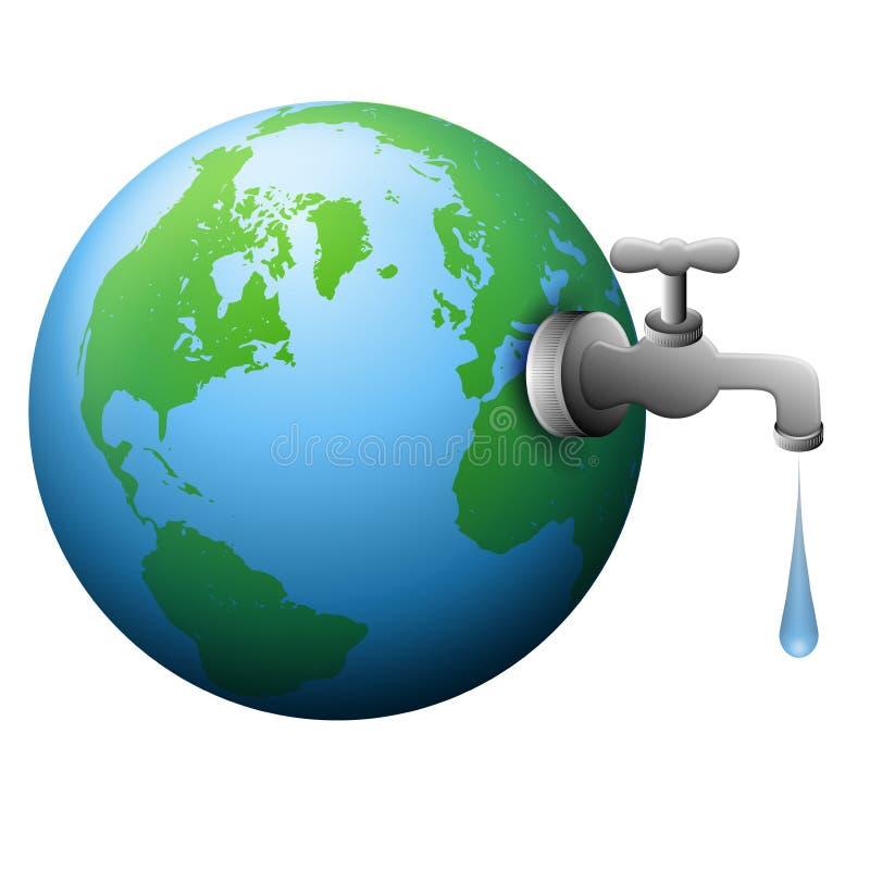 Fonte da torneira de água da terra ilustração royalty free
