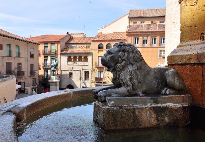 Fonte de água, bravo quadrado de Juan, Segovia, Spain foto de stock royalty free