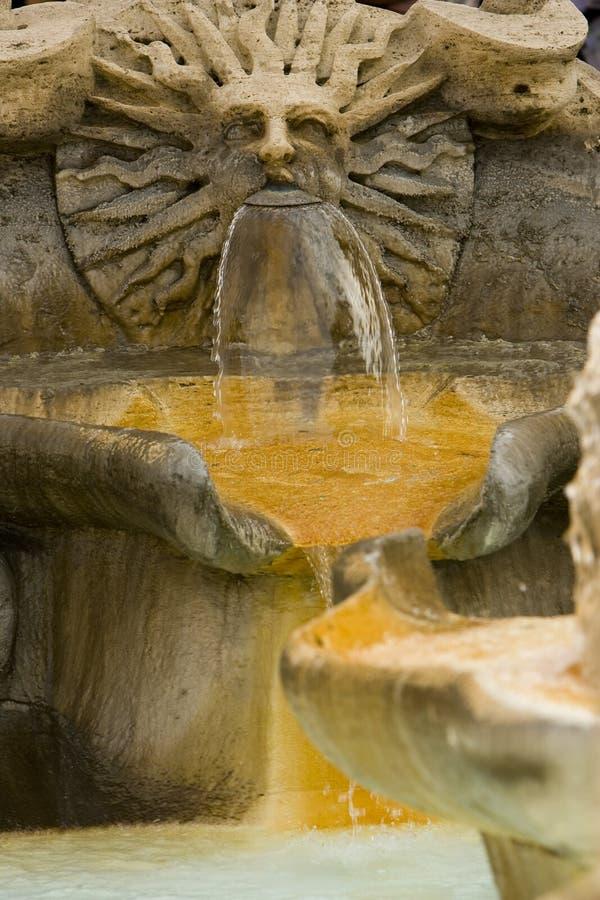 Fonte de Barcaccia em Roma, Italy fotografia de stock