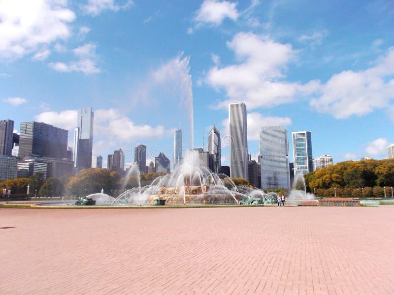 Fonte de Buckingham em Grant Park em Chicago, Estados Unidos imagens de stock royalty free