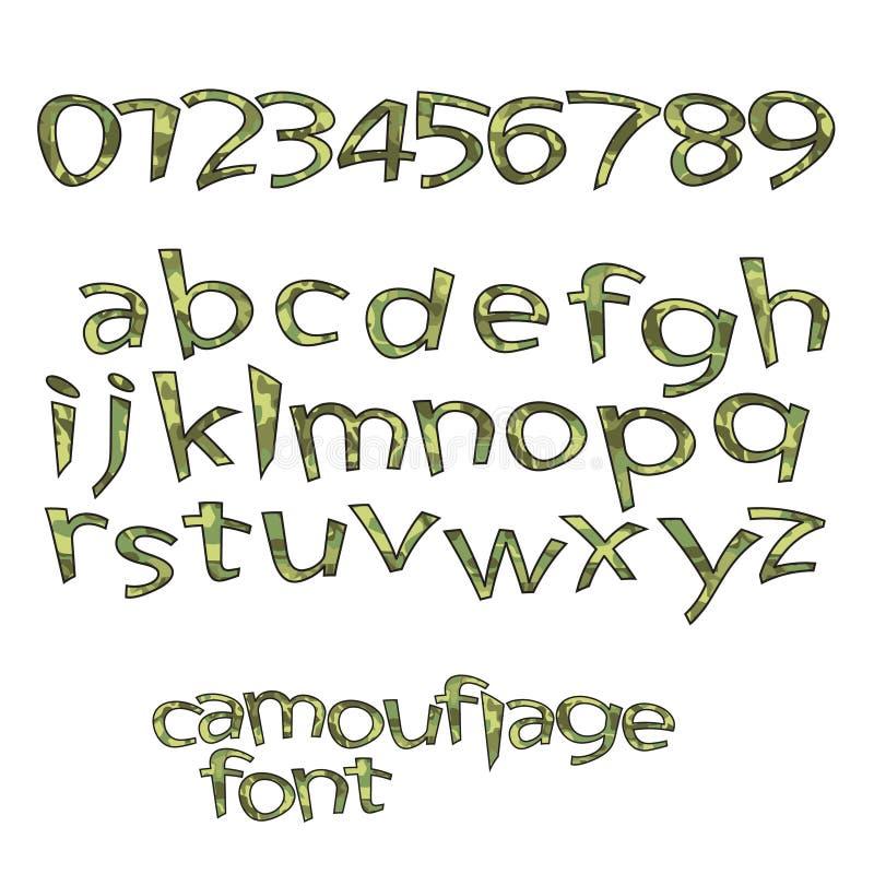 Fonte de camouflage illustration de vecteur