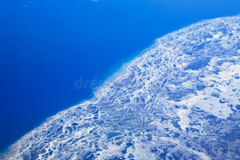 Fonte de glacier photographie stock libre de droits
