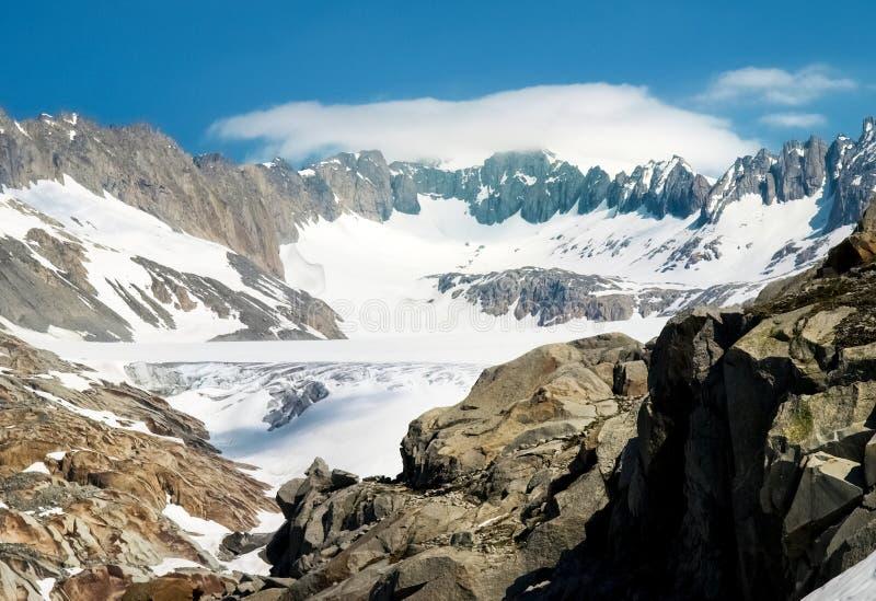 Fonte de glacier du Rhône images stock