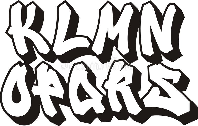 Fonte de graffiti (partie 2) illustration libre de droits