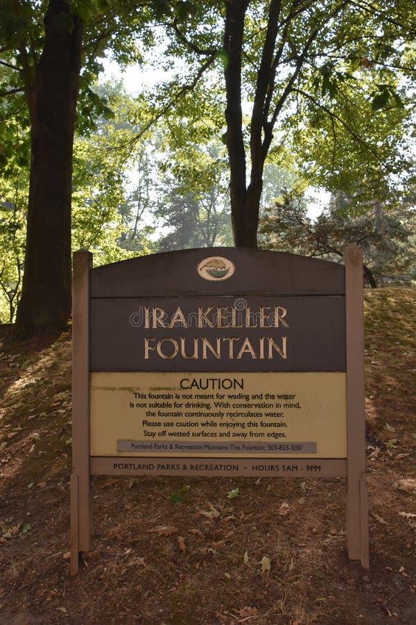 Fonte de Ira Keller em Portland, Oregon imagens de stock