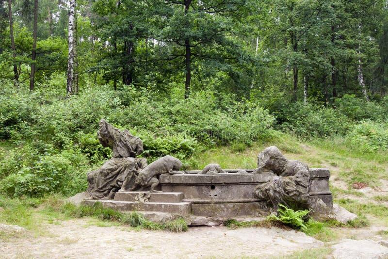 Fonte de Jacob, Kuks Forest Sculptures foto de stock royalty free