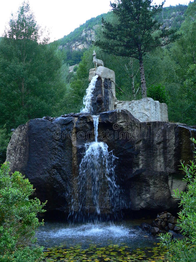 Fonte de l'isard, Caldes de Boi, Lleida (Spagna) fotografie stock