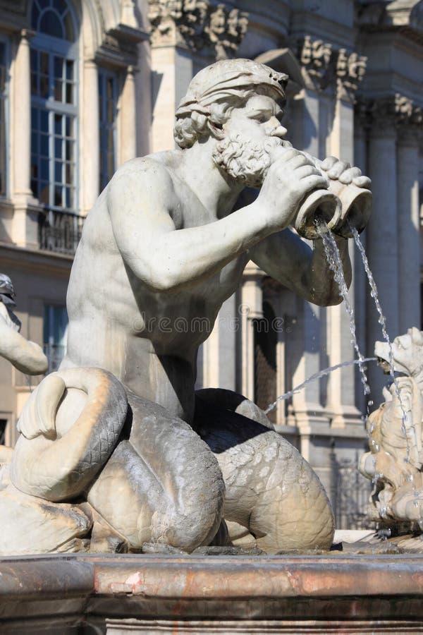 Fonte de mármore no quadrado de Navona, Roma fotografia de stock royalty free