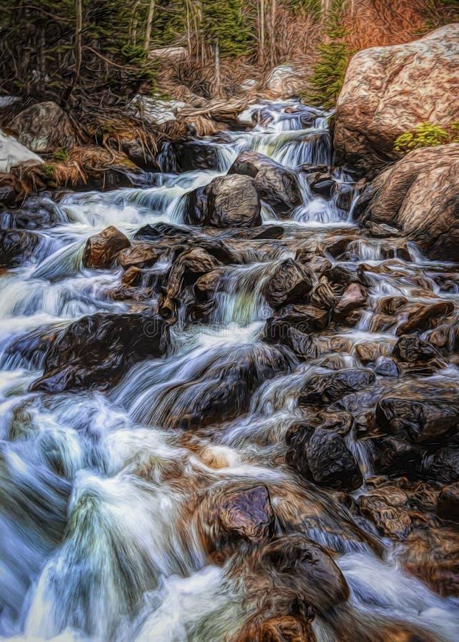 Fonte de neige en parc national grand de Teton wyoming images libres de droits