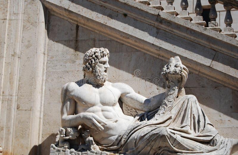 Fonte de Netuno em Roma fotos de stock royalty free