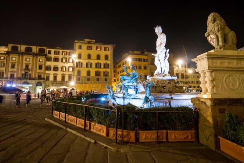 Fonte de Netuno no della Signoria da praça, Florença foto de stock royalty free
