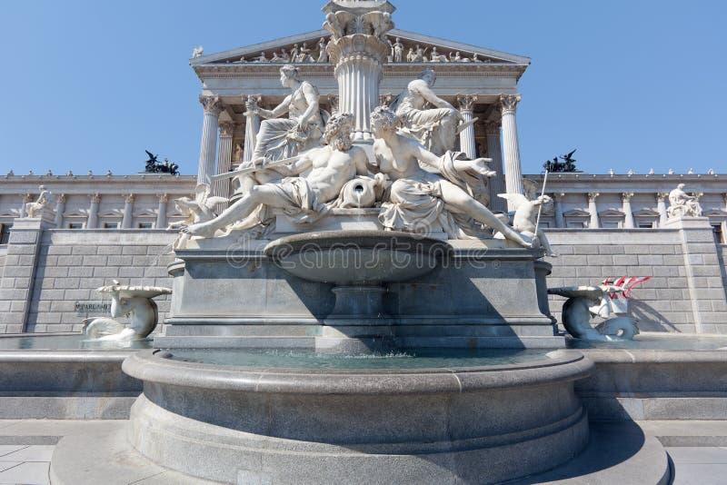 Fonte de Pallas Athena, Viena fotografia de stock
