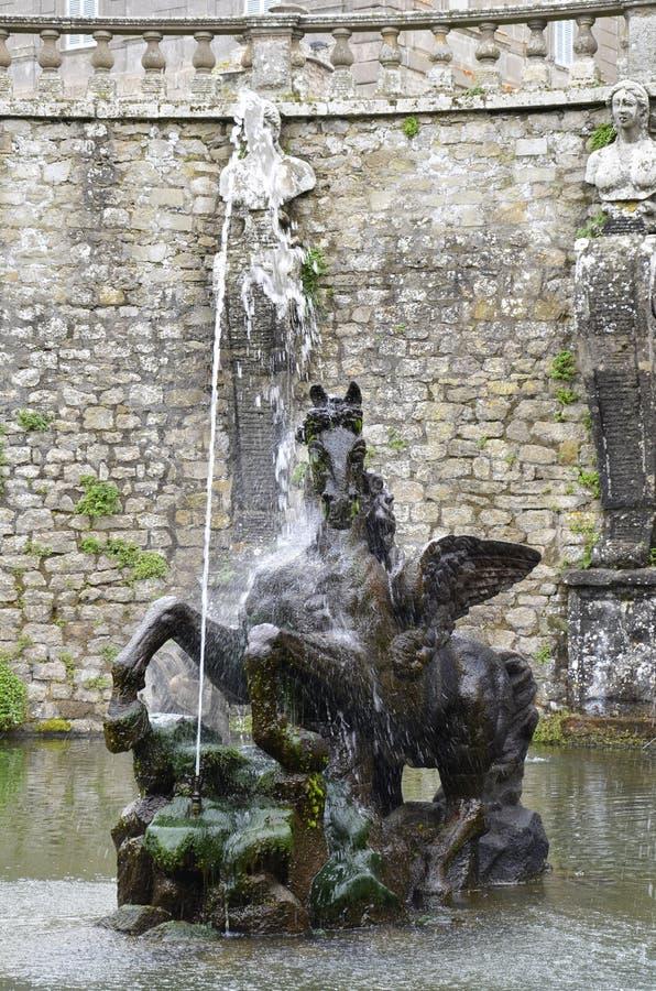 Fonte de Pegasus, casa de campo Lante foto de stock royalty free
