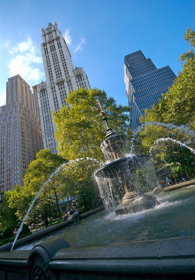 Fonte de salão de cidade, NYC fotos de stock royalty free