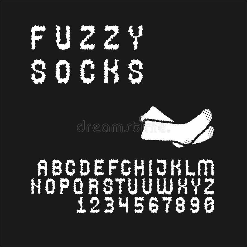 Fonte de Sans Serif ajustada no uppercase ilustração royalty free