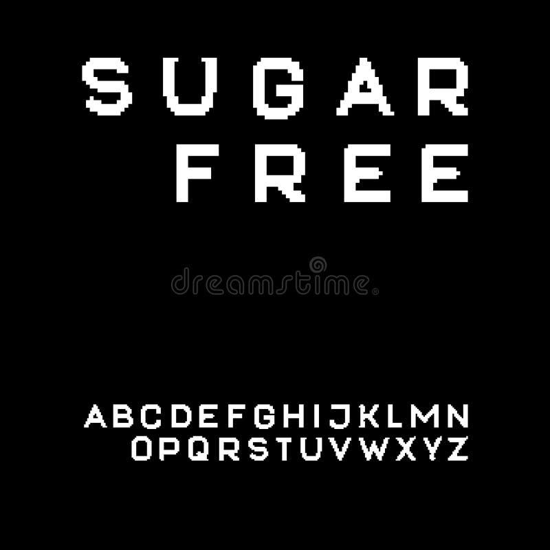 Fonte de Sans Serif do pixel ilustração royalty free