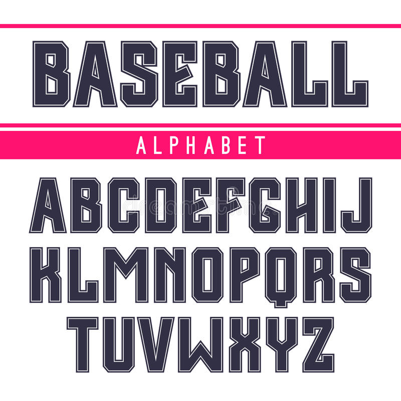 Fonte de Sans Serif no estilo do esporte ilustração royalty free
