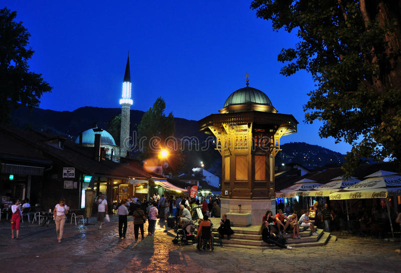Fonte de Sebilj, Sarajevo Bósnia e Herzegovina fotos de stock