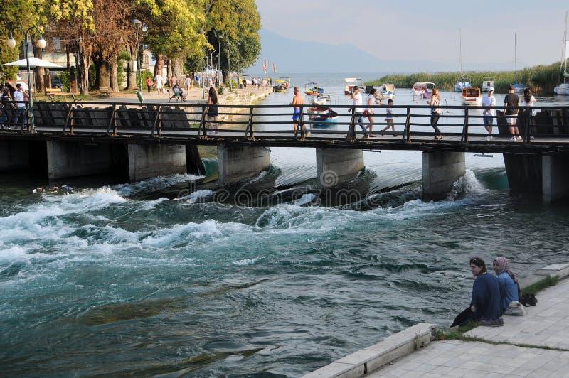 Fonte del fiume nero di Drin fotografie stock