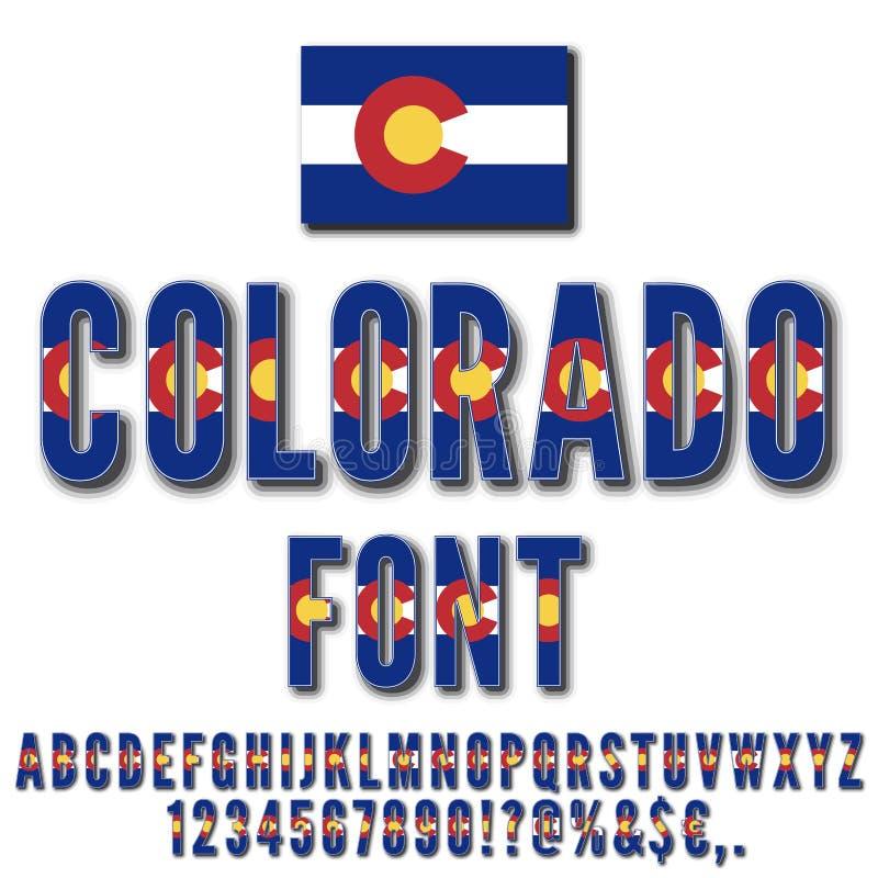 Fonte della bandiera nazionale illustrazione vettoriale