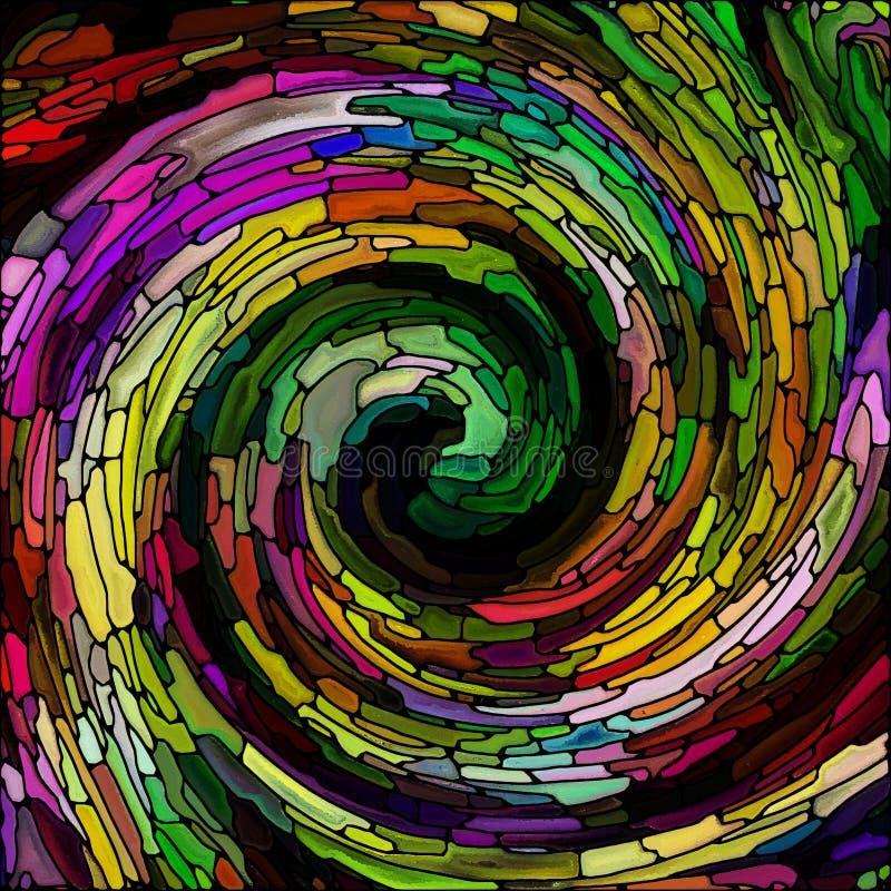 Fonte di colore a spirale illustrazione di stock