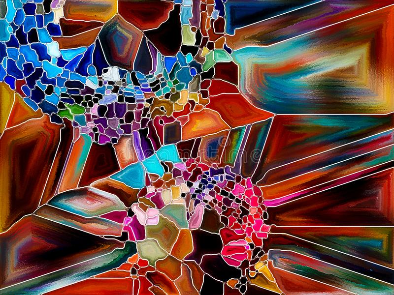 Fonte di divisione vibrante illustrazione vettoriale
