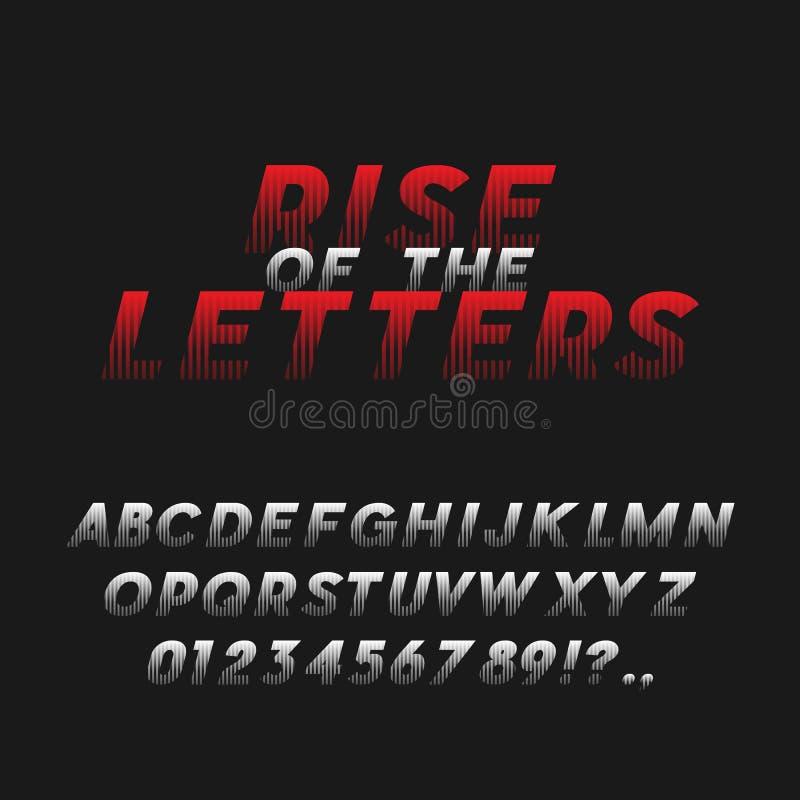 Fonte di grassetto corsivo di stile del manifesto di film typeface illustrazione vettoriale