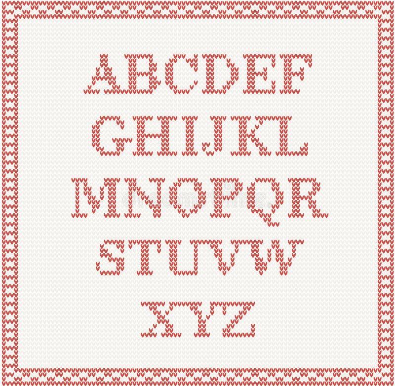 Fonte di Natale: alfabeto tricottato royalty illustrazione gratis
