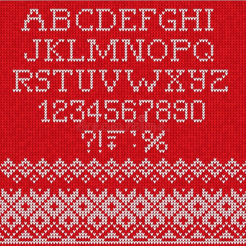 Fonte di Natale: Senza cuciture scandinavo di stile tricottato illustrazione vettoriale